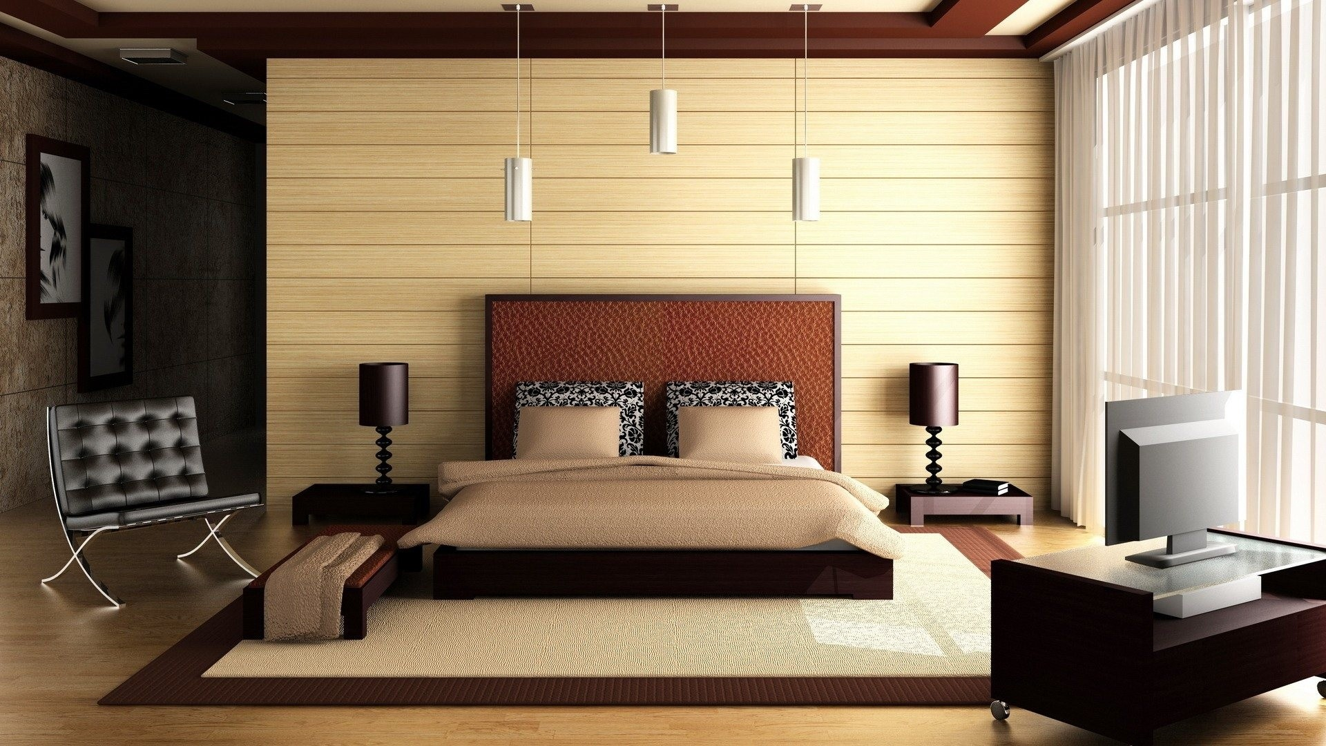 Ordinaire Superb Bedroom Interior Design Wallpapers